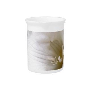 weißer Freesia Krug