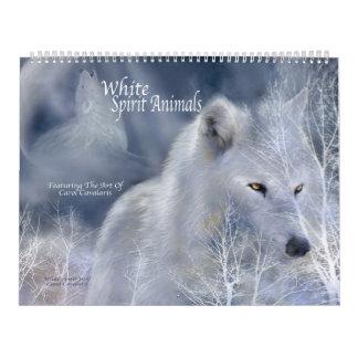 Weißer Geist-Tier-Kunst-Kalender Wandkalender
