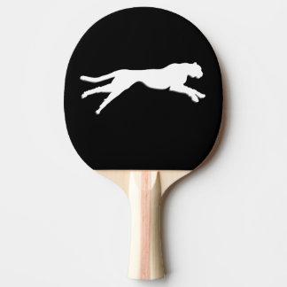 Weißer Gepard der grafischen Kunst Tischtennis Schläger