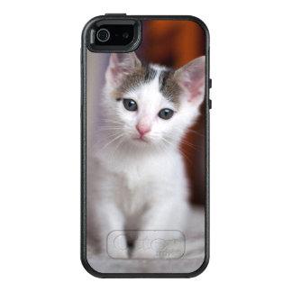 Weißer gepunkteter Kitty OtterBox iPhone 5/5s/SE Hülle