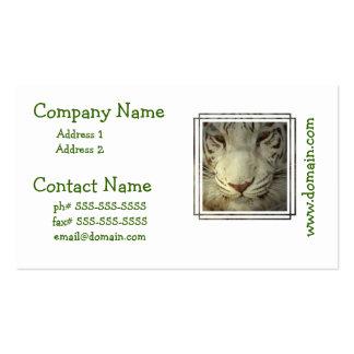 Weißer gestreifter Tiger Visitenkarten