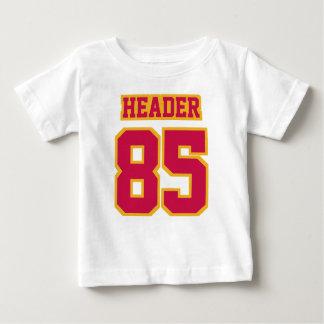 WEISSER GOLDseitenfußball Crewneck des HOCHROTEN Baby T-shirt