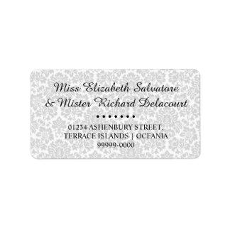 Weißer gotischer viktorianischer adressaufkleber
