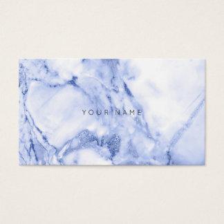 Weißer grauer blauer Marine-Marmor Vip Visitenkarte