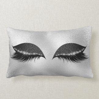 Weißer grauer schwarzer Glasschlaf-Glitter Lendenkissen