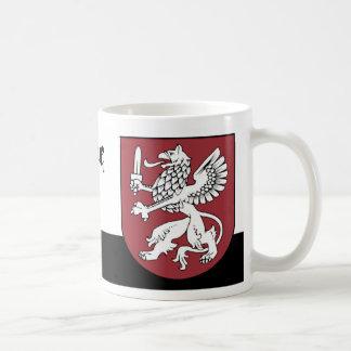 Weißer Greif mit einer Klinge von Vidzeme Lettland Kaffeetasse