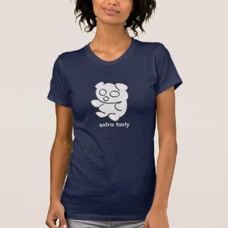 weißer gummiartiger Bär dunkles t T-Shirt