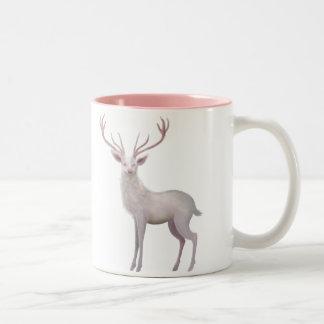 Weißer Hirsch Zweifarbige Tasse