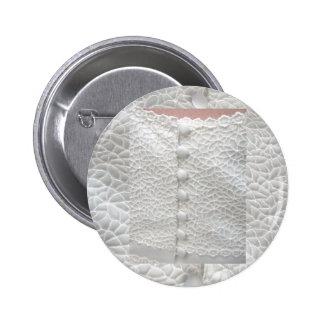 Weißer Hochzeits-Kleiderknopf - kundengerecht Buttons