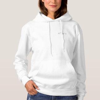 weißer Hoodie der Frauen 4TEN der Pullover