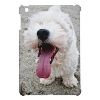 Weißer Hund des glücklichen Welpen, malteese, iPad Mini Hülle