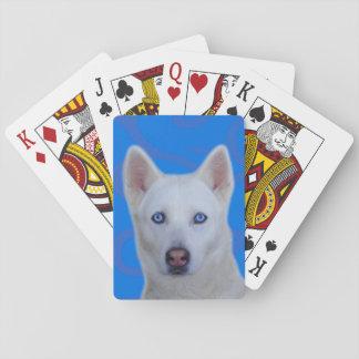 Weißer Husky-Standardspielkarten Kartendeck