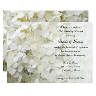 Weißer Hydrangea-laden 12,7 X 17,8 Cm Einladungskarte