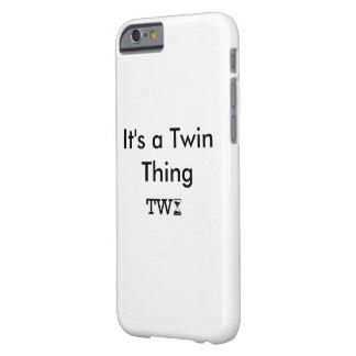 """Weißer iPhone Kasten """"es ist eine Doppelsache """" Barely There iPhone 6 Hülle"""