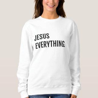 WEISSER JESUS ALLES Sweatshirt
