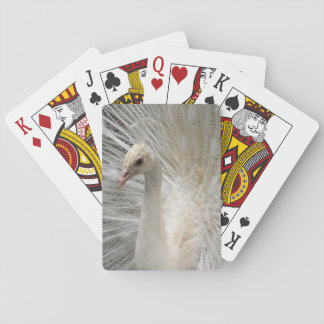 Weißer Kaiserpfau Spielkarten