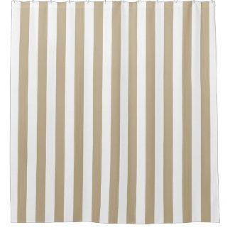 Weißer kakifarbiger vertikaler Streifen NL #0 Duschvorhang