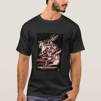 Weißer Kaninchen-Verkünder (kein Text) T-Shirt