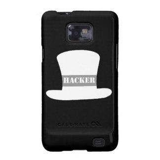 Weißer Kasten Hut-Hacker-Samsung-Galaxie-S Galaxy S2 Hüllen