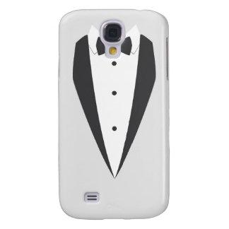 weißer Kasten Tuxedoschwarzbogen-Krawatte Galaxy S4 Hülle