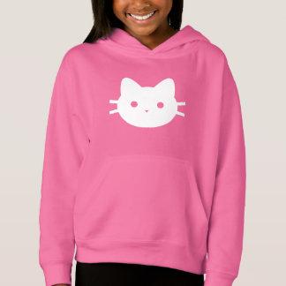 Weißer Katzen-PulloverHoodie Hoodie