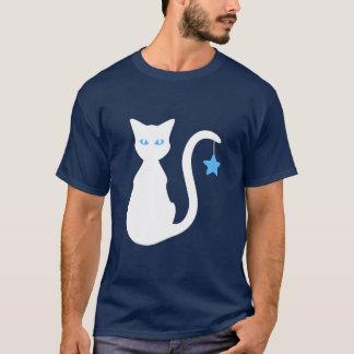 Weißer Katzen-T - Shirt