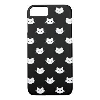 Weißer Katzen-Telefon-Kasten iPhone 8/7 Hülle