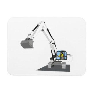 weißer Kettenbagger Magnet