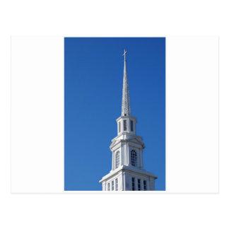Weißer KircheSteeple Postkarte