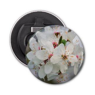 Weißer Kirschblüten-Entwurf Flaschenöffner