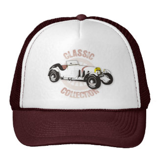 Weißer klassischer Rennwagen Cap