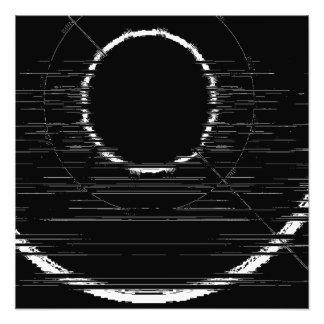 weißer Kreis Fotodruck