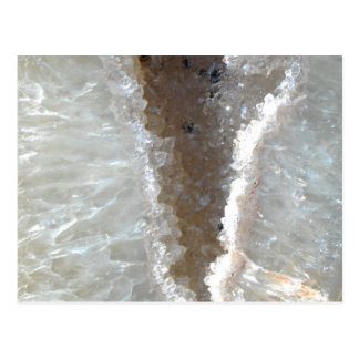 Weißer Kristallmineralstein Postkarte