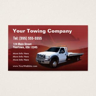 Weißer LKW-Entwurf Towing Company Visitenkarte