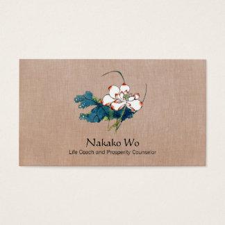 Weißer Lotos-Blumen-heilende Kunst-holistische Visitenkarten