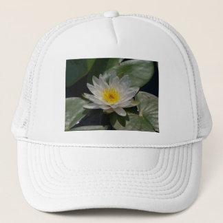 Weißer Lotos-Wasserlilie-Hut Truckerkappe