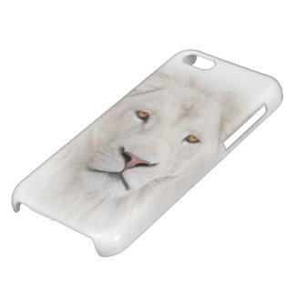Weißer Löwe-Kopf glatter iPhone 5C Fall Hülle Für iPhone 5C
