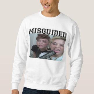 Weißer Mädchen-Pöbel Crewneck Sweatshirt