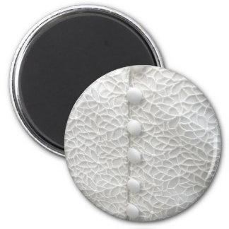 Weißer Magnet des Hochzeits-Kleidi Magnets