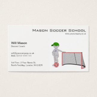 Weißer Mann, Fußball-Trainer-Visitenkarte Visitenkarte