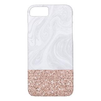 Weißer Marmor eingetaucht in iPhone 8/7 Hülle
