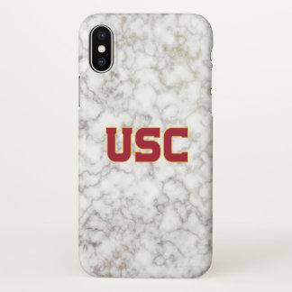 Weißer Marmor USC Trojan-| iPhone X Hülle