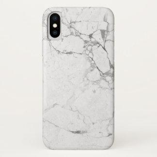 Weißer MarmoriPhone Kasten iPhone X Hülle