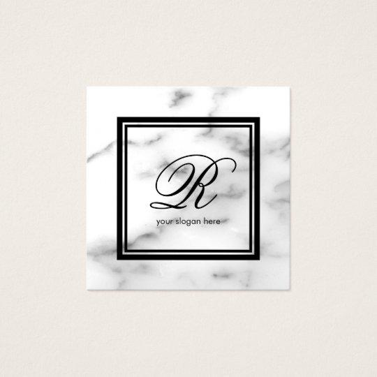 Weißer Marmorstein der eleganten Quadratische Visitenkarte