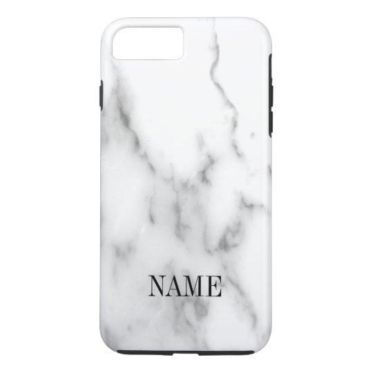 Weißer Marmorsteinhintergrunddruck iPhone 8 Plus/7 Plus Hülle