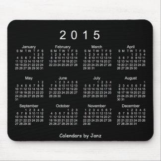 Weißer Neonkalender 2015 durch Janz Mousepad