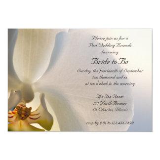 Weißer Orchideen-Eleganz-Posten-Hochzeits-Brunch Karte