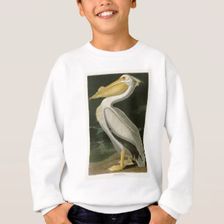 Weißer Pelikan-John James Audubon-Vögel von Sweatshirt