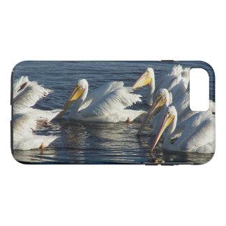 Weißer Pelikan-Vogel-wild lebende Tiere TieriPhone iPhone 8 Plus/7 Plus Hülle