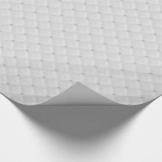 Weißer Perlen-Bolzen gesteppt Geschenkpapier